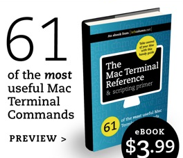 mac terminal command, applescript primer